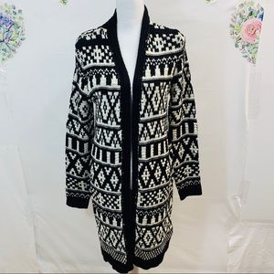 Forever 21 Cardigan M Long Open Front M71